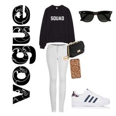 """Untitled #2"" by miacanter123 on Polyvore featuring 2LUV, Felony Case, adidas and Ray-Ban"
