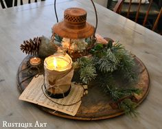 Rustic Christmas Table Centerpieces - Harbor Farm Wreaths