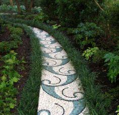 beautiful mosaic path