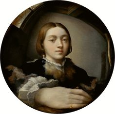 Parmigianino Selfportrait - Autoritratto entro uno specchio convesso - Wikipedia