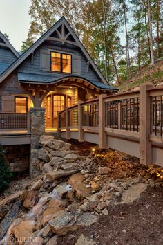 The Reserve at Lake Keowee I White Exterior Houses, Dream House Exterior, House Exteriors, Rustic Lake Houses, Looking For Houses, Haus Am See, Modern Rustic Homes, Craftsman Style House Plans, Log Cabin Homes