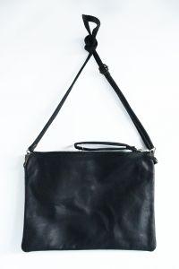 Sac/pochette cuir noire