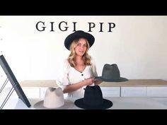 Gigi Pip was inspired by the woman who wears many hats. The Billie is a tall crown hat with a structured, tall crown and stiff brim. This tall cr. Hipster Hat, Tall Hat, Crown Heights, Love Hat, Hat Hairstyles, Fedora Hat, Towers, Hats For Women, Plus Size Fashion