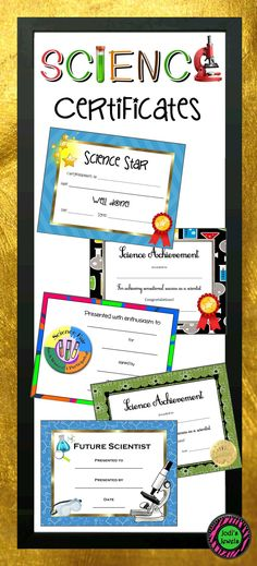 Printable Science Fair Award Certificate Pinterest Science fair