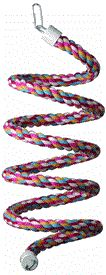 Bendable (wire runs through center) rope climb. Total length (when extended) is 48 inches. Bend into any shape. 1/2 inch diameter rope. Connects to cage on one side. Comes in assorted colors, you may not receive pictured color. Sorry, no color choices.