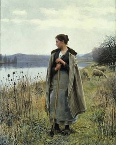 Daniel Ridgway Knight The Shepherdess of Rolleboise - The Largest Art reproductions Center In Our website. Low Wholesale Prices Great Pricing Quality Hand paintings for saleDaniel Ridgway Knight Moritz Von Schwind, La Madone, Google Art Project, Art Ancien, Oeuvre D'art, American Artists, Art Google, Art History, Art Projects