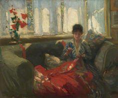 Philip Wilson Steer, Woman Sewing, 1893*