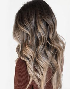 Ombre Hair, Brown Hair Balayage, Blonde Hair With Highlights, Brown Blonde Hair, Balayage Brunette, Hair Color Balayage, Light Brown Hair, Light Hair, Hair Color For Black Hair