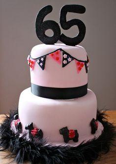 Scottie dog cake