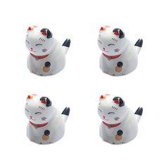Set Von 4 Japanischen Keramik Lucky Cat Shaped Stäbchen Löffel Gabeln Halter E - http://besteckkaufen.com/blancho/set-von-4-japanischen-keramik-lucky-cat-shaped-st-l