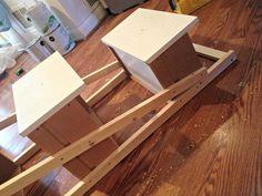 DIY Ladder Shelf construction 2