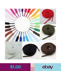 Shoelaces Hot 2Pcs 5 Colors Athletic Sport Sneaker Flat Bootlaces Shoelaces Strings Laces #ebay #Fashion