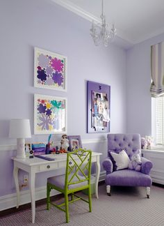 Charmant Love The Paint Color And Chairs! And Love The Purple, Olive Green U0026 White  Color Combo!