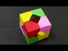 456 Origami 종이접기 (큐브 박스) modular Cube 쉬운 색종이접기 Easy 摺紙 折纸 оригами 折り紙 اوريغامي - YouTube