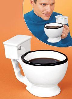 tazza per bevande a forma di water