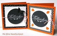 Stampin up Zwischen den Zweigen Karten Karten  Grußkarte Halloween Fledermaus schwarz orange