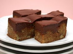 APPLE A DAY: Butterscotch Blondies with Chocolate Ganache for Annie's Baby Shower