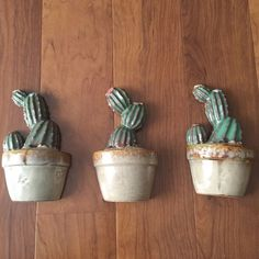 Ceramic Cactus Wall Decor Set Of Three  | eBay