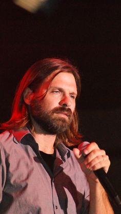 Mac Powell from Third Day has an AMAZING voice. (and a pretty sick beard too...)