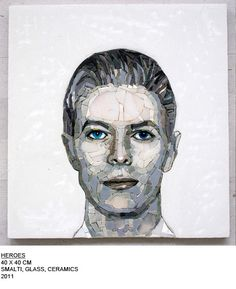 "Looks like David Bowie, just love this portrait    ""Heroes""  http://www.mosaizm.com"