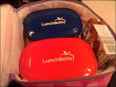 I was given one of these LunchBots containers at an event, but Fiona loved it so much I bought her another. We usually put a sandwich in one, and fruits or veggies in the other, which has a divider.