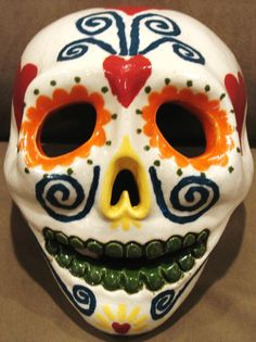 Smart Alex™ Hand Painted and Ceramic Mask in celebration of Dia De Los Muertos