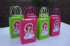 Strawberry Shortcake Birthday Party Pink Green Favor Goody Candy bags Fillers