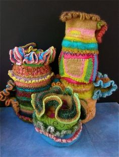 Saraluna fiber art - she also does dolls