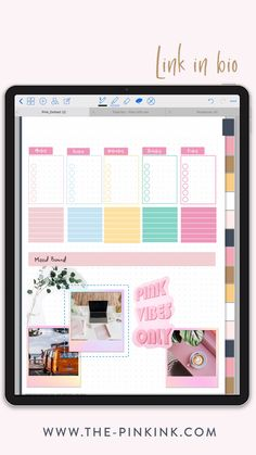 Ipad Discover Plan with me Mood board Digital planning Ipad planner Weekly planner bullet journal inspiration Study Planner, Weekly Planner, Planner Board, Blog Planner, Site Web Design, Bullet Journal Books, Digital Journal, Planner Template, Notes Template