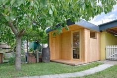 Außensauna in Fichte Outdoor Sauna, Shed, Outdoor Structures, Dolphins, Infrared Heater, Backyard Sheds, Coops, Barns, Tool Storage