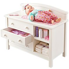 Woodworking Patterns Doll Changing Table Woodworking Plan from WOOD Magazine Woodworking Toys, Woodworking Patterns, Popular Woodworking, Woodworking Furniture, Woodworking Projects, Woodworking Machinery, Youtube Woodworking, Woodworking Equipment, Woodworking Classes