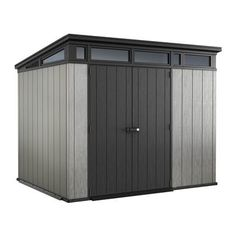 Keter Storage, Tool & Garden Shed 237083 Artisan Storage Shed (Common: x Actual Interior Dimensions: x Bauhaus, Keter Sheds, Plastic Sheds, Wood Storage Sheds, Garage Storage, Garage Shelving, Shelves, Cheap Sheds, Carports
