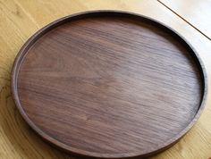 Round Walnut Tray by Masahiro Endo at OEN Shop - http://shop.the189.com/collections/masahiro-endo/products/round-walnut-tray