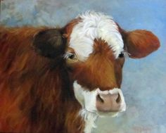 Hey, I found this really awesome Etsy listing at https://www.etsy.com/listing/175429203/cow-painting-of-cinnamon-original-oil-by