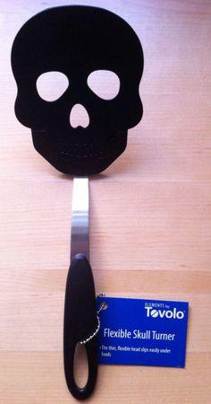 Brand New! Tovolo Black Nylon Flexible Skull Kitchen Turner Spatula