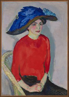 Portrait of a Lady in Red (1912) by Jan Sluijters (1881-1957), Dutch, oil on canvas, Museum Boijmans Van Beuningen, Rotterdam, Netherlands - was a leading pioneer of various post-impressionist movements in the Netherlands, finally settling on a colorful expressionism. (wiki) - (Via MBVB - transistoradio)