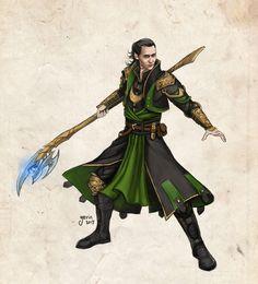 Loki in Dragon Age AU by slugette