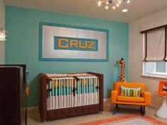 Blue, brown, orange, green - 10 Decorating Ideas for Nurseries on HGTV