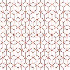 Future Wallpaper, How To Hang Wallpaper, Wallpaper Paste, New Wallpaper, Live Coral, Textiles, Geometric Wall, Orange Color, Decoration