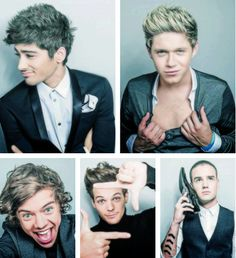 Zayn looks kinda old, Niall looks unusually seductive, and Liam is just being him haha :)