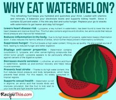 Cooking Tips Podcasts | Why Eat Watermelon from RecipeThis.com