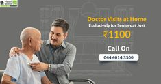 Doctor consultations for seniors at home through doctor on call services in Chennai provided by the best senior home healthcare provider. Doctor On Call, Good Doctor, Chennai, Appointments, Doctors, Health Care, Books, Libros, Book