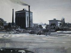 """Maria Kieser,, """" C III"""",acrylic on canvas, polish artist"""