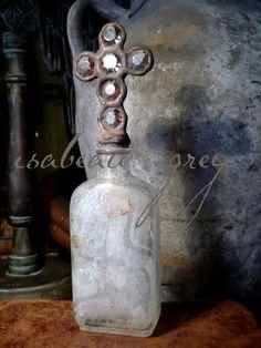 Greyfreth antique cross bottles. Old meets older.