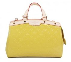 Louis Vuitton handbag monogram vernis brea mm m91619 yellow [M91619-11502] :