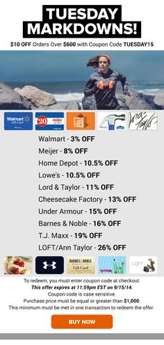 Tuesday Markdowns: Meijer 8% OFF, Barnes & Noble 16% OFF, TJ Maxx 19% OFF & More