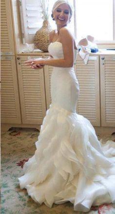 #mermaid wedding dresses #elegant wedding dresses #wedding dresses 2016 #2016 wedding gown