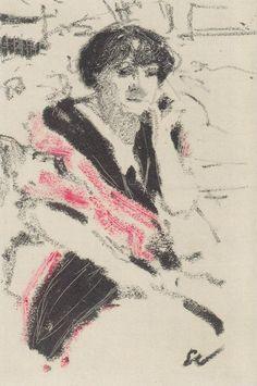 Édouard Vuillard - Half Figure of a Seated Woman, c.1911