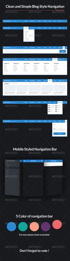 66 best navigation bar templates images on pinterest menu template