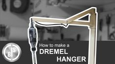 I should have built this dremel holder hanger much earlier. It gives me instant access if I need to use my dremel r.